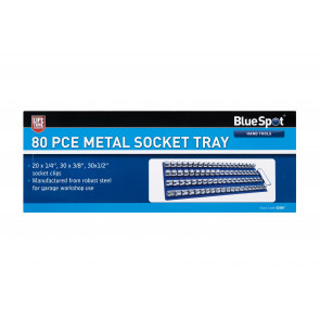 BlueSpot 80PCE Metal Socket Tray