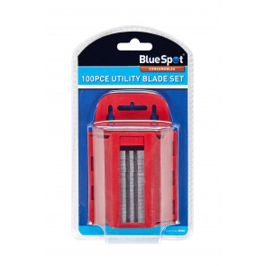 BlueSpot 100 PCE Utility Blades In Dispenser