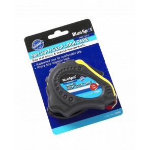 BlueSpot 5m (16ft) Soft Grip Self-Lock Tape Measure