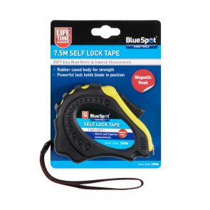 BlueSpot 7.5m (25ft) Soft Grip Self-Lock Tape Measure