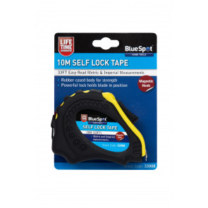 BlueSpot 10m (33ft) Soft Grip Self-Lock Tape Measure