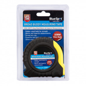 BlueSpot 10m (33ft) Extra-Wide Blade Tape Measure