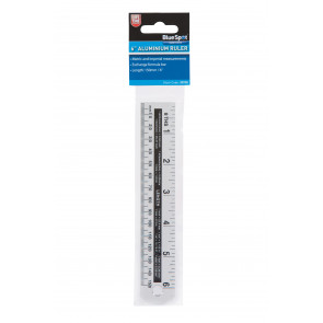 "BlueSpot 150mm (6"") Aluminium Ruler"