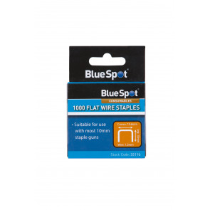 BlueSpot 10mm Crown Flat Wire Staples T50 Type