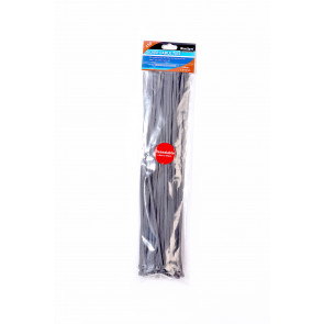 BlueSpot 50 PCE 4.8mm X 370mm Silver Cable Ties