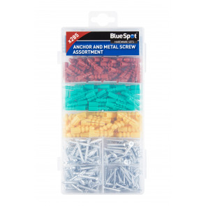 BlueSpot 285 PCE Assorted Anchor And Metal Screw Set