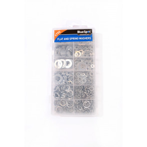 BlueSpot 790 Pce Assorted Flat And Spring Washer Set