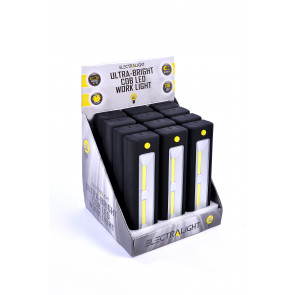 Electralight Ultra Bright COB Work Light With Batteries