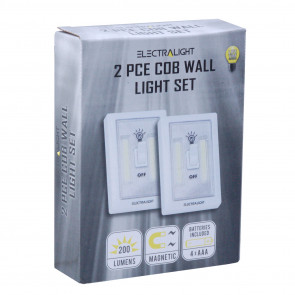 Electralight 2 PCE COB Wall Light Set (200 Lumens)