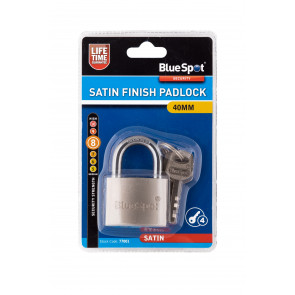 BlueSpot 40mm Satin Finish Padlock