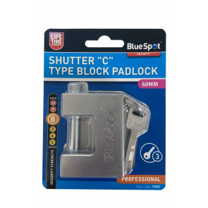 "BlueSpot 60mm Shutter ""C"" Type Block Padlock"
