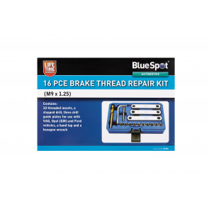 BlueSpot 16 PCE Brake Thread Repair Kit (M9 x 1.25)
