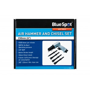 "BlueSpot 150mm (6"") Air Hammer and Chisel Set"