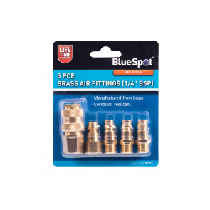 BlueSpot 5 PCE Brass Air Fittings (BSP)